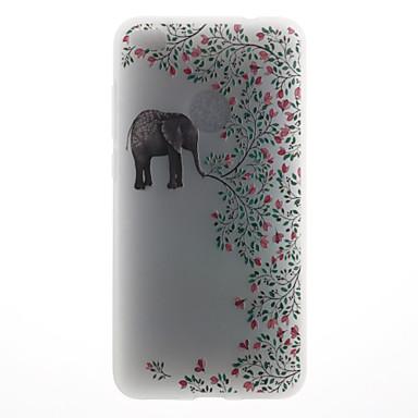 القضية ل هواوي p8 لايت (2017) p10 حالة تغطية الفيل نمط 3d الإغاثة الحليب تبو المواد حالة الهاتف لهواوي p10 لايت p10 زائد