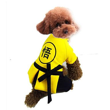 Hund Overall Hundekleidung Ninja Lässig/Alltäglich Cosplay Buchstabe & Nummer Gelb Rot Kostüm Für Haustiere