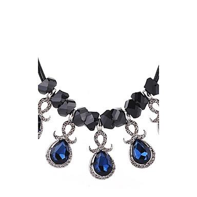 Pentru femei Picătură Cristal / Diamant sintetic Cristal Coliere cu Pandativ - Clasic / Elegant / Modă Albastru Închis Coliere Pentru