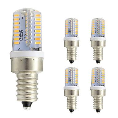 3W 260 lm E12 Becuri LED Corn T 64 led-uri SMD 3014 Alb Cald Alb Rece AC 220-240V