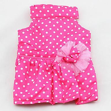 Hond Jurken Hondenkleding Warm Casual/Dagelijks Prinses Stippen Paars Blauw Roze Kostuum Voor huisdieren