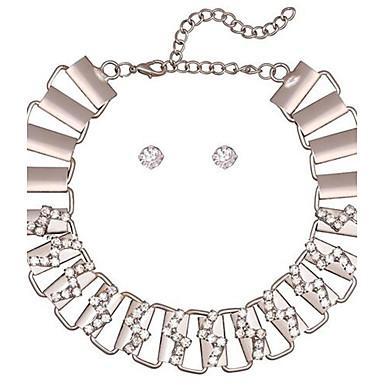 billige Mode Halskæde-Dame Kort halskæde Twist Circle Mode Justerbar Sølv Halskæder Smykker Til Fest Gave Stævnemøde