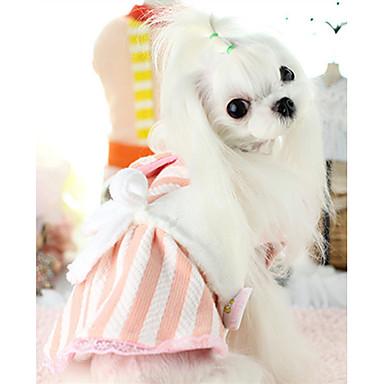 Hond Jurken Hondenkleding Warm Casual/Dagelijks Gestreept Geel Blauw Roze Kostuum Voor huisdieren