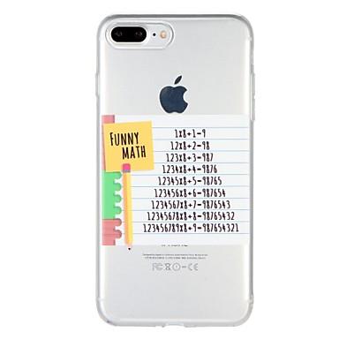 Caz pentru Apple iphone 7 plus iphone 7 acoperire model spate acoperire caz cuvânt / frază soft tpu pentru iphone 6s plus iphone 6 plus