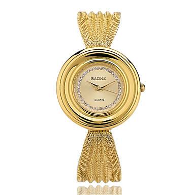 Pentru femei Ceas de Mână Ceas La Modă Quartz imitație de diamant Aliaj Bandă Casual Auriu