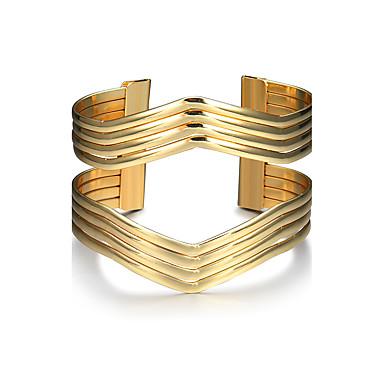 Pentru femei / Fete Lux Brățări Bantă - Lux / Clasic / De Bază Circle Shape / Geometric Shape Auriu Brățări Pentru Scenă / Muncă / Ieșire