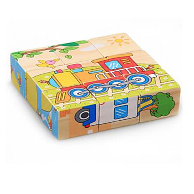 Puzzle 3D Puzzle Jucării Educaționale Mașină Animale De lemn Lemn Desen animat Pentru copii Unisex Cadou