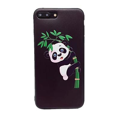 Caz pentru Apple iphone 7 plus 7 matte model embossed spate acoperă panda animal moale tpu 6s plus 6 plus 6s 6