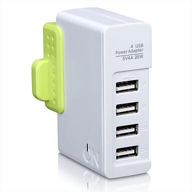 Britse stekker Australische stekker Telefoon USB-oplader Snellader Stekkerdozen cm Outlets 4 USB-poorten 4A AC 100V-240V