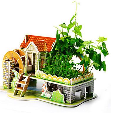 Puzzle 3D Puzzle Jucării de Construit Clădire celebru Casă Lemn Lemn natural Unisex Cadou