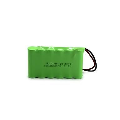 ml ni-mh baterie aa 1800mah 7.2v de înaltă calitate (culoarea verde)
