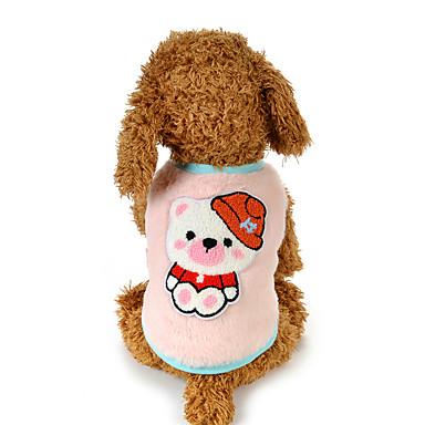 Hond Gilet Hondenkleding Casual/Dagelijks Cartoon Groen Blauw Roze Kostuum Voor huisdieren