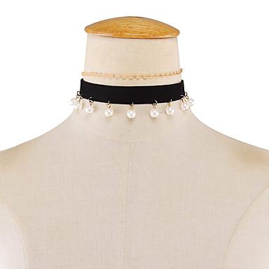 Pentru femei Imitație de Perle Imitație de Perle Coliere Choker - Modă Rotund Auriu Coliere Pentru Nuntă / Petrecere / Zi de Naștere