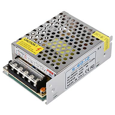 Hkv® 1pcs mini universell geregelte schaltnetzteil elektronischen transformatorausgang dc 12v 5a 60w eingang ac 110v / 220v