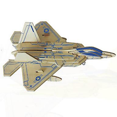 قطع تركيب3D تركيب النماذج الخشبية دبابة طيارة المقاتل 3D خشب الخشب الطبيعي للأطفال للجنسين هدية