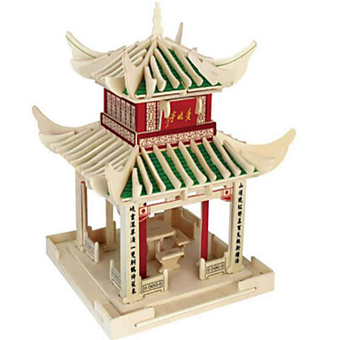 3D-puzzels Legpuzzel Beroemd gebouw DHZ Hout Natuurlijk Hout Chinese stijl Kinderen Unisex Geschenk
