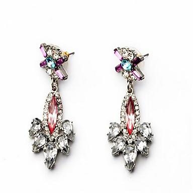 Dames Oorknopjes Bergkristal Synthetische Ruby Gepersonaliseerde Sexy Liefde Oversized Modieus Legering Bloemvorm Sieraden Sieraden Voor