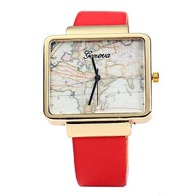 Bărbați Ceas La Modă Ceas de Mână Ceas Casual Chineză Quartz Piele Bandă Casual Cool Negru Alb Roșu Maro
