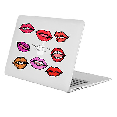 MacBook Carcase pentru Cuvânt / expresie Transparent Femeie Sexy PVC Noul MacBook Pro 15
