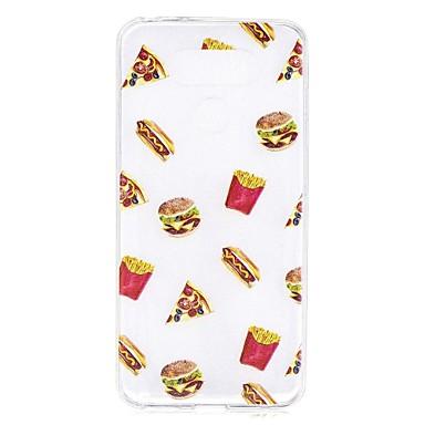 Caz pentru lg g6 caz acoperă hamburgeri model de înaltă penetrare tpu material caz de zgârieturi telefon