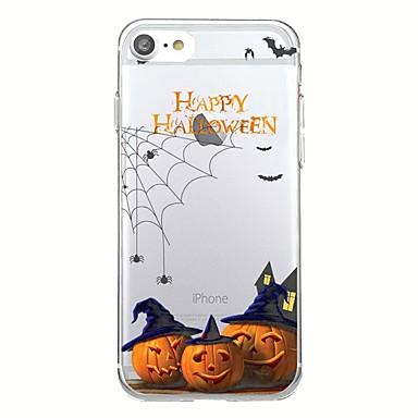 Maska Pentru Apple Transparent Model Carcasă Spate Halloween Moale TPU pentru iPhone 7 Plus iPhone 7 iPhone 6s Plus iPhone 6 Plus iPhone