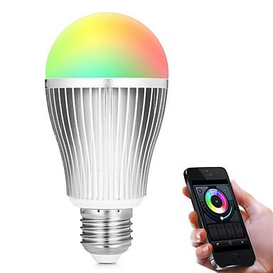 9W 900lm E27 Slimme LED-lampen A60 (A19) 18 LED-kralen SMD 5730 WiFi Infrarood Sensor Dimbaar Licht controle APP Control Op afstand