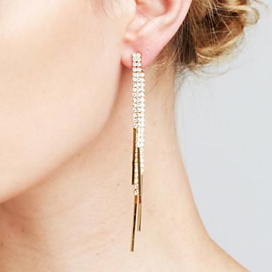 Dames Luxe Synthetische Diamant - Luxe / Riipus / Sexy Goud / Zilver Lijnvorm oorbellen Voor Kerstcadeaus / Bruiloft / Vuosipäivä