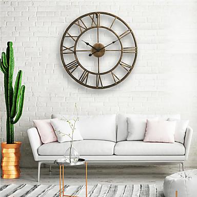 ceas de perete, rotund centurian de 20 de grade centurian metalic din fier forjat numeral stil numeral de origine decor analog ceas de metal