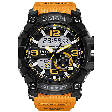 SMAEL Men's Wrist watch Sport Watch Digital Watch Fashion Watch Digital Alarm Water Resistant / Water Proof LED Luminous Dual Time Zones