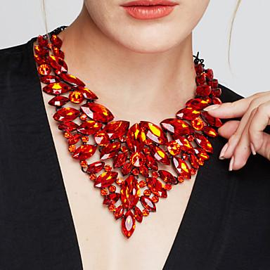 Női Ékszerek Luxus Divat Európai Méretes ékszerek elegáns Nyilatkozat nyakláncok Partedli nyakláncok Szintetikus drágakövek Kristály