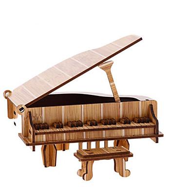 Sets zum Selbermachen 3D - Puzzle Holzpuzzle Spielzeuginstrumente Spielzeuge Piano Geige Musik Instrumente Pferd Karusell 3D Simulation