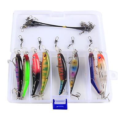 23pcs buc Κιτ ψαρέματος Momeală Dură Plastic Dur Kituri Pescuit mare Aruncare Momeală Pescuit la Copcă Filare Pescuit la Oscilantă