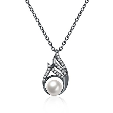 Pentru femei Geometric Shape Lux Punk Hip-Hop Gotic Coliere cu Pandativ Perle Perle Aliaj Coliere cu Pandativ . Crăciun Nuntă Scenă Muncă