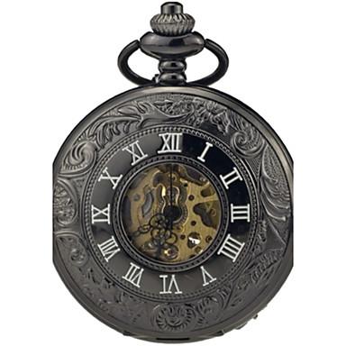 Bărbați Ceas de buzunar Mecanism automat Aliaj Bandă Vintage Negru