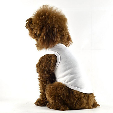 Hund Weste Hundekleidung Lässig/Alltäglich Solide Weiß Schwarz Rot Blau Rosa Kostüm Für Haustiere