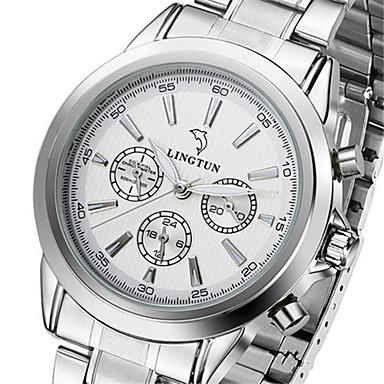 Bărbați ceas mecanic Mecanism automat Calendar Rezistent la Apă Iluminat Aliaj Bandă Argint