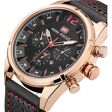 Bărbați Unic Creative ceas Ceas de Mână Ceas La Modă Ceas Sport Ceas Casual Quartz Calendar Piele Autentică Bandă Charm Lux Creative