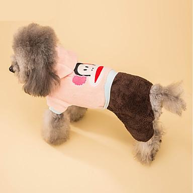 Hond kostuums Jumpsuits Hondenkleding Cosplay Cartoon Roze Kostuum Voor huisdieren