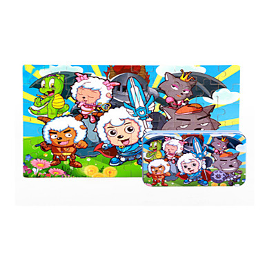 Puzzle Puzzle Lemn Jucării Educaționale Dinosaur Desen animat Floare Fruct Other Lemn Anime Desen animat Unisex Cadou
