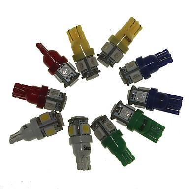 Sencart t10 ba9s 10pcs indicatoare auto bec bec lumina (alb rosu galben albastru verde 2buc) dc12v