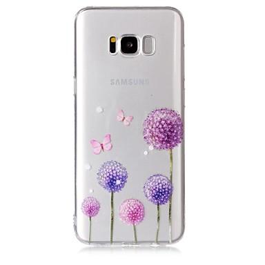 غطاء من أجل Samsung Galaxy S8 Plus S8 شفاف نموذج غطاء خلفي فراشة الهندباء ناعم TPU إلى S8 S8 Plus S7 edge S7