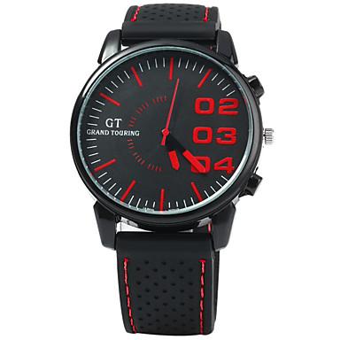 Bărbați Ceas Sport / Ceas de Mână Japoneză cald Vânzare / Cool Cauciuc Bandă Modă Negru
