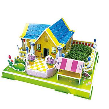 Puzzle 3D Puzzle Jucarii pentru constructii Jucarii Clădire celebru Casă Arhitectură 3D Lemn Lemn natural Unisex Bucăți