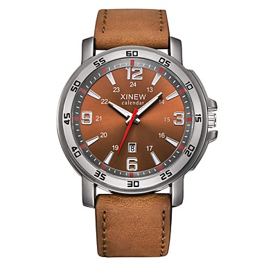 Herrn Kinder Sportuhr Armbanduhr Einzigartige kreative Uhr Armbanduhren für den Alltag Chinesisch Quartz Kalender Wasserdicht Leder Band