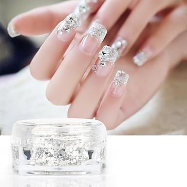 Pinpai 3pcs unghii glitter sequin mireasa unghie sclipici unghii unghii unghii patch 5g sticla de unghii deghizare și decorare