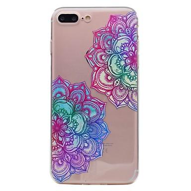 hoesje Voor Apple iPhone 7 Plus iPhone 7 Transparant Patroon Achterkant Mandala Zacht TPU voor iPhone 7 Plus iPhone 7 iPhone 6s Plus