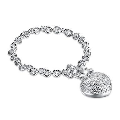 Dames Armbanden met ketting en sluiting Bedelarmbanden Zirkonia Basisontwerp leuke Style Met de hand gemaakt Gothic Initial Jewelry Luxe