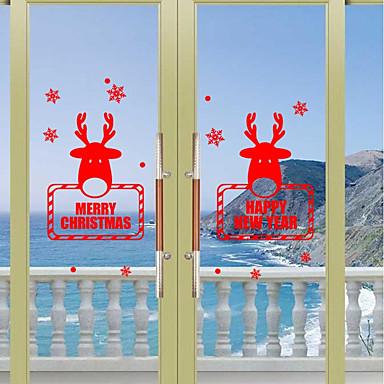 Crăciun Vacanță Perete Postituri Autocolante perete plane Autocolante de Perete Decorative,Hârtie Material Pagina de decorarede perete