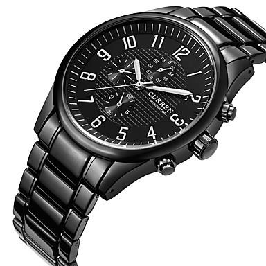 Недорогие Часы на металлическом ремешке-CURREN Муж. Спортивные часы Армейские часы Наручные часы Кварцевый Нержавеющая сталь Черный Творчество Повседневные часы Cool Аналоговый Кулоны Роскошь На каждый день Мода Элегантный стиль -