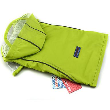 كلب معطف المطر ملابس الكلاب سادة أخضر أزرق زهري البوليستر كوستيوم للحيوانات الأليفة صيف للرجال للمرأة كاجوال / يومي